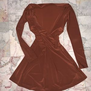 Forever 21 Brown Cutout Mini Dress